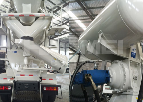 10cmb concrete mixer truck was exported to Paraguay