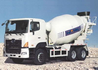 The hydraulic pressure system of concrete mixer truck maintenance