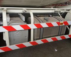 Concrete mixer truck fuel tank